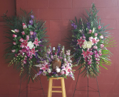 Sweet Urn and Purple Elegant  Sympathy Combo