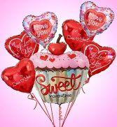 Sweet Valentine Cupcake Bouquet Bunch  Valentines Day