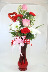 Sweet Valentine Custom Fitzgerald Flowers Arrangement