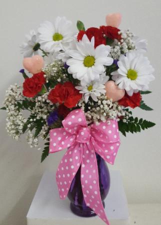 Sweet Valentine Vase Arrangement