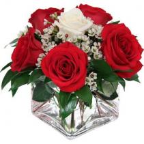 Sweet whispers Fresh roses arrangement