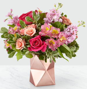 Pink Geometric Design Bouquet in Canon City, CO | TOUCH OF LOVE FLORIST AND WEDDINGS