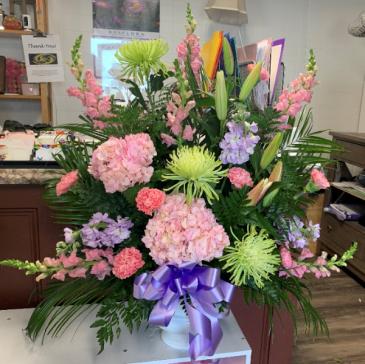 Sweetest Love Funeral Basket Sympathy Flowers