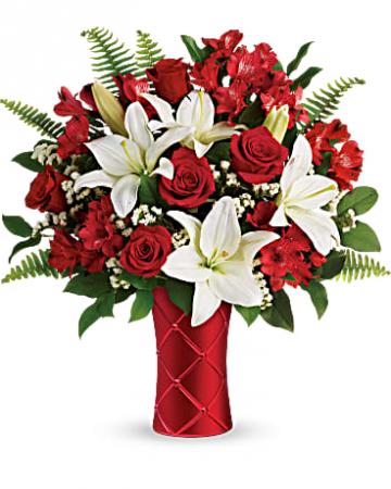 Sweetest Satin Bouquet Fresh Arrangement