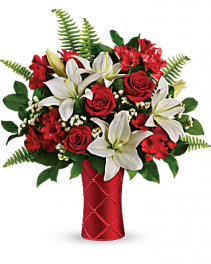 Sweetest Satin Bouquet Vased Arrangement
