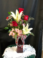 Sweetheart  Bouguet Vase arrangement