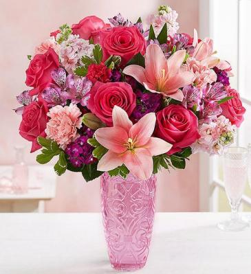 Sweetheart Medley Keepsake Vase Arrangement