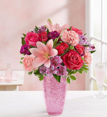 Sweetheart Medley European Gates Vase Arrangement