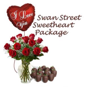 Sweetheart Package vase in Salamanca, NY | SWAN STREET FLORIST