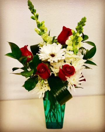 Hugs Red & White Floral