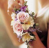 Sweetheart Rose and Alstromeria Wrist Corsage