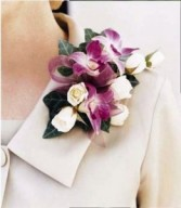 SWEETHEART ROSE AND BI-COLOR DENDROBIUM  CORSAGE OR WRISTLET
