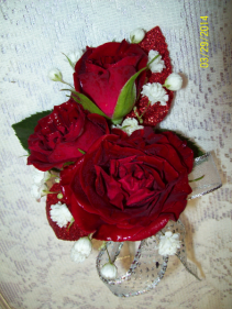 Ritzy Red Prom Boutonniere