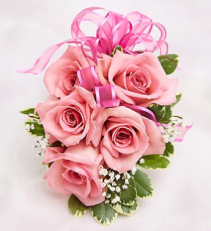 Sweetheart rose corsage   Your color choice of Ribbon and silver or gold sparkles