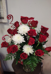 Sweetheart Roses Two Dozen Red Roses with Mixed Flowers
