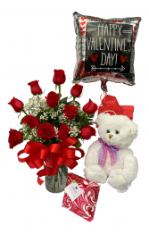 Sweetheart Spectacular  Package with Bear and Candy
