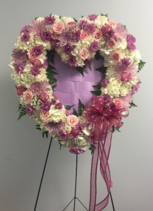 Sweetheart Standing Spray Sympathy Sprays in Milton, FL | PURPLE TULIP FLORIST INC.