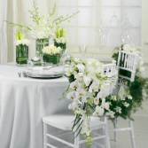 SWEETHEART TABLE DECORATION WHITE WEDDING