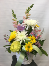 Sweethearts Bouquet Basket arrangement