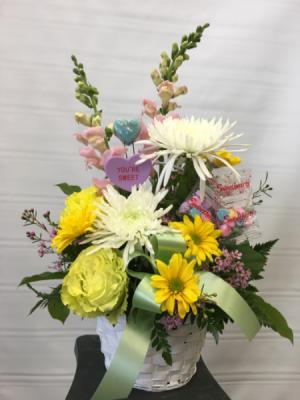 Sweethearts Bouquet Basket arrangement in Joliet, IL | LABO'S FLOWERS & GIFTS