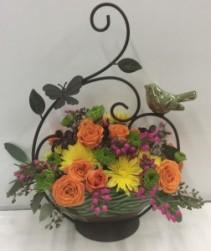 Sweetly Spring Bird Basket