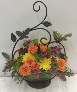Sweetly Spring Bird Basket  in Troy, MI | ACCENT FLORIST