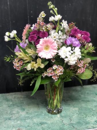 Sweetly Yours Seasonal Arrangement- SOLD OUT Garden Vase Arrangement
