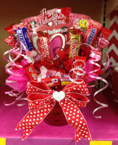 Sweets for my sweetheart basket  Candy basket