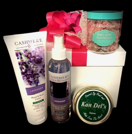 Sweets, Spa & Scent Gift Set with Decadent Scent & Sweets