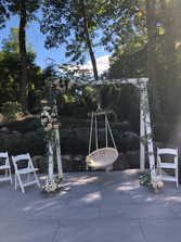 swing set for bride chuppah