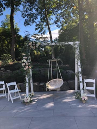 swing set for bride chuppah