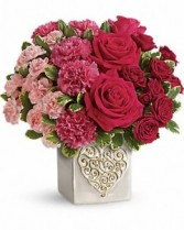 Swirling Heart Bouquet Arrangement