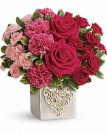 Swirling Heart Bouquet  Fresh Arrangement