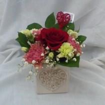 Swirling Heart Bouquet Valentine's Day
