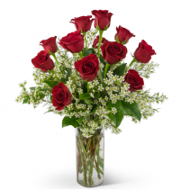 Swoon Over Me Dozen Red Roses Arrangement