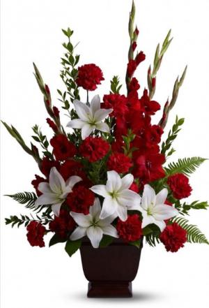 Sympathy Arrangement #2  in Oakville, ON | ANN'S FLOWER BOUTIQUE-Wedding & Event Florist