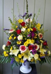 array of sympathy flowers Funeral