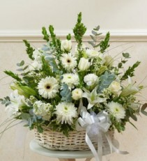 Sympathy Arrangement in Basket Sympathy Basket