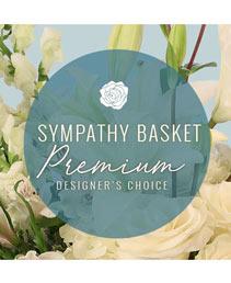 Sympathy Basket Florals Premium Designer's Choice