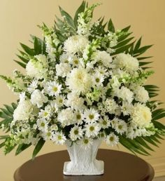 Sympathy Basket in White Elegant basket