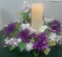 Sympathy Candle Arrangement