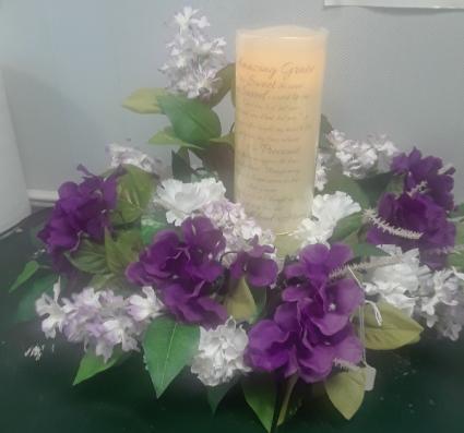 Sympathy Candle Arrangement