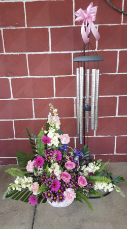 Sympathy Chime with a Basket