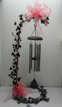 Sympathy Chimes - Large Chimes displayed on stand