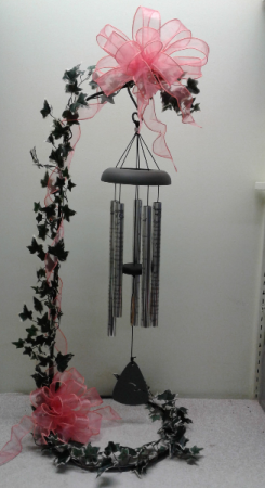 Sympathy Chimes - Medium Chimes displayed on stand