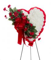 Sympathy Closed Heart Silk Funeral Arrangement