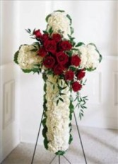 Sympathy Cross Funeral Arrangement