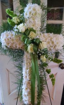 Sympathy Cross funeral flowers