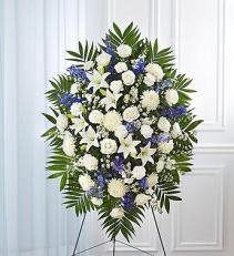 Sympathy Easel Blue & White