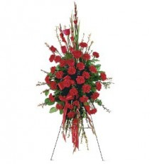 Royal Roses & Carnations Easel Spray